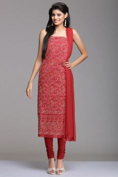 Touch of Class: Chikankari Un-stitched Suits - Home Page Display