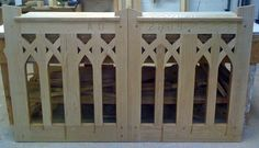 Entrance gates made of Oak for a local church to replace a pair that were built in 1924.
