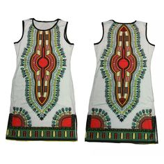 Girls Traditional African Print Dashiki Bodycon Dress,African Maxi Kaftan Poncho…