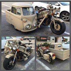 VW Camper motorcycle sidecar