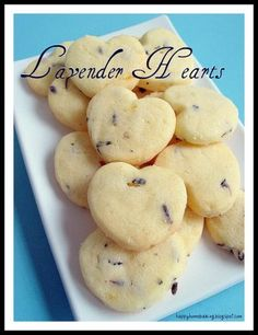 Lemon Lavender Cookies. now I know what to do with my Lavender plant :)