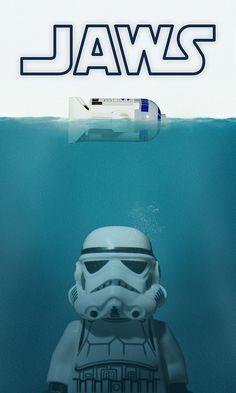 (342.918)Jaws Star Wars mash up