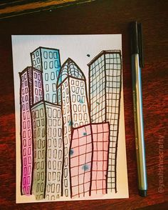 Last one!  #nyc #doodle #watercolor #draw #yoch2016 #yearofcreativehabits #newyork #staedtler #drawing #sketch #koiwatercolors #make #art #positivevibes #acolorstory #abmlifeiscolorful