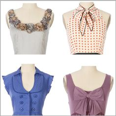 I have a thing for interesting necklines. Who needs a necklace when top of your shirt is interesti...