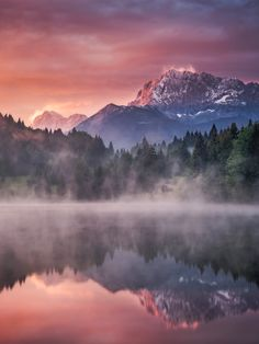"Refuge - Geroldsee in Bavaria at Sunrise <a href=""http://www.andreas-wonisch.com"">Homepage</a> 
