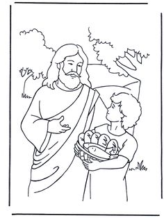 Jesus Walks on Water Coloring Page  Bible Jesus and His Miracles