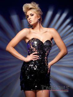 Tony Bowls Shorts Dress TS21217 at Prom Dress Shop | Prom Dresses