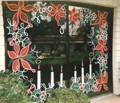 painted storefront windows Christmas - Bing images