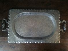 Vintage Large Ornate Hand Made Tray with Handles / by EnglishShop, £145.00