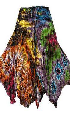 Hippie Tie Dye Smock Hem Skirt/Dress   HIPPIE CLOTHING   80% Sale HIPPIE CLOTHING Now!! on HIPPIEUP.com