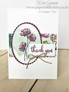 Paper Addiction – Erin Gunson – Stampin' Up!® Independent Demonstrator NZ. Share What You Love thank you card.