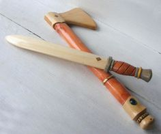 Viking Explorer Wooden Toy Axe and Sword Set by FriendlyFairies
