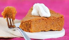 Healthy Pumpkin Pie- with no crust!