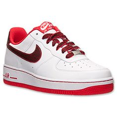 Air Force 1 Shoes Red And White