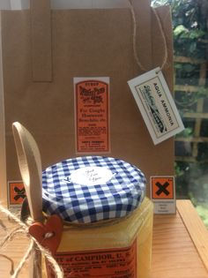 Ex mums jewellery shed, Facebook. Sugar scrub and apothecary style gift bag