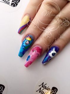 My Little Pony Nails by Kirsty Meakin | NAIO NAILS