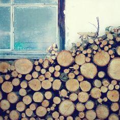 Rustic woodpile