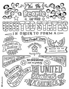 Preamble to the United States Constitution Social Studies Notebook, 5th Grade Social Studies, Teaching Social Studies, History Education, Teaching History, Education Quotes, History Class, Constitution Day, American History Lessons