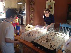 Family table hockey! Hockey Games, Table, Model, Fun, Ice Hockey, Scale Model, Tables, Desk