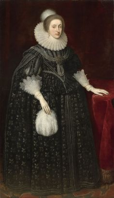 Elizabeth Stuart, Queen of Bohemia Daughter of James VI and I & Anne of Denmark. Wife to Frederick V, Elector Palatine. Portrait by Daniel Mytens, Henrietta Maria, House Of Stuart, Royal Collection Trust, Mary Queen Of Scots, Herzog, Historical Clothing, Fashion History, Adele, Family Portraits