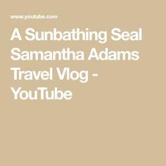 A Sunbathing Seal Samantha Adams Travel Vlog - YouTube