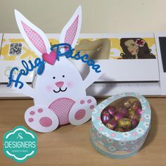 Free DIY 3D cut file --from silhouette Brazil-- 3D DIY bunny shaped box and egg shaped box WOW!