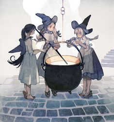 Art Manga, Anime Art, Pretty Art, Cute Art, Illustrations, Illustration Art, Art Goth, Witch Drawing, Witch Characters
