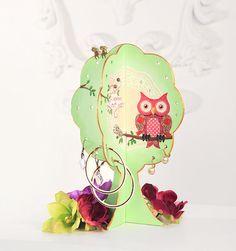 "Jewelry Tree / Earring Tree / Earring Holder / Jewelry Stand / Jewelry Organizer ""Owl always love you"""