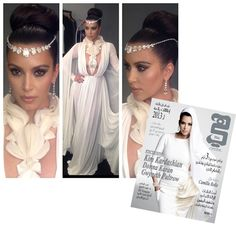 Kim Kardashian in Stephane Rolland for Hia Magazine