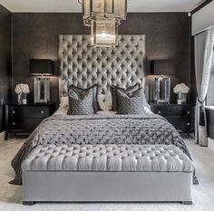 Grey Bedroom Decor, Glam Bedroom, Home Bedroom, Light Bedroom, Bedroom Apartment, Master Bedroom Grey, Girls Bedroom, Bedroom Inspo Grey, Bedroom 2018