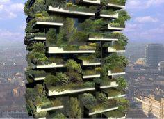 skyscraper covered in trees - Milan