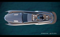 Xhibitionist luxury super-yacht by Gray Design, designed with the flowing lines of an Art Nouveau masterpiece and automotive styling. Images © Gray Design The… Yacht Design, Boat Design, Super Yachts, Aston Martin, Vacation Meme, Car Bonnet, Cool Boats, Yacht Boat, Futuristic Cars