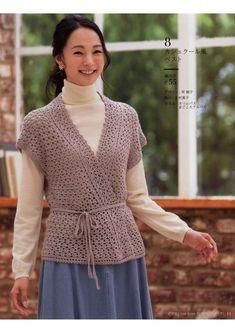 "Мобильный LiveInternet Журнал ""Let's Knit Series"" - Beautiful Crochet & Knitting Autumn/Winter 2 Crochet Jacket, Crochet Cardigan, Knit Dress, Free Crochet, Crochet Top, Beautiful Crochet, Crochet Clothes, Hijab Fashion, Cute Dresses"