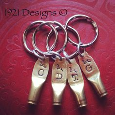 223 Shell Casing stamped key rings by 1921Designs on Etsy
