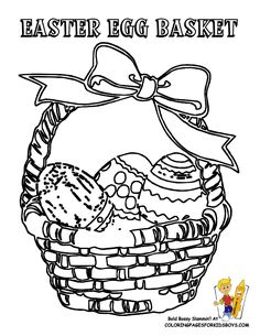 _easter_egg_basket_at_coloring pages book for kids boys