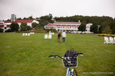 Mission Point Resort Engagement Wedding Photography Mackinac Island | Amanda + Andy photo by Paul Retherford ~ flower bloom ~ outdoor photo ~ gazebo ~ tranquility point ~ waterfront ~ lakeview #missionpointresort #mackinacisland #mackinaw #engagement #engagementidea #engagementinspiration #engage