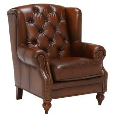 Ullswater Leather Wingback Chair | Armchairs - Barker & Stonehouse