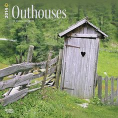 BrownTrout's annual wall calendar devoted to outhouses has become a cult classic for calendar buyers who have a finely tuned sense of humor. Like those in the edition, outside latrines can still be found in the country, especially near farms and old homes. Although rustic and lacking in home comforts, they offer quiet, privacy, and a... well... maybe not so refreshing bit of the outdoors.