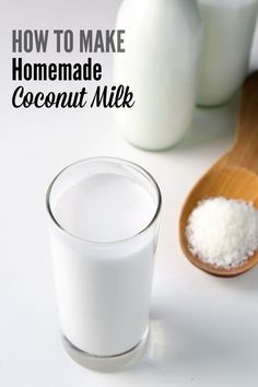 Make your own coconut milk at home with this simple 2 ingredients 5 minute recipe. It is cheaper that store-bought and guaranteed BPA free. Anyone who is vegan or lactose-intolerant needs to know this!