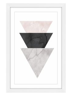 Marmont Hill Triangle Stack (Framed Giclee)