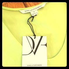 NEW w/tags DIANE VON FURSTENBERG green silk shirt. Brand new, never worn DIANE VON FURSTENBERG green, silk shirt. Diane von Furstenberg Tops Blouses