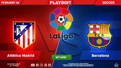Sunday and nothing to do? Why don't betting on La Liga: Atlético de Madrid vs FC Barcelona? ⚽ Spend your free time with us, you won't regret! 😉