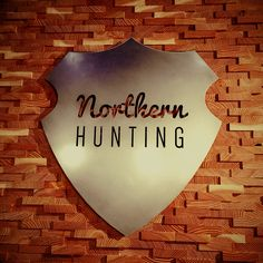 Northern Hunting logo on the back wall at Pferd und Jagd fair 2015 in Hannover. www.northernhunting.com