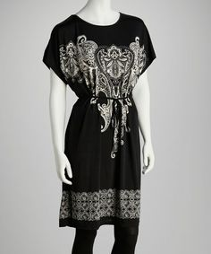 Take a look at this Black Paisley Tunic by India Boutique on #zulily today! $9.99, regular 26.00