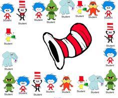 Classroom Freebies Too: Dr. Seuss Smartboard Attendance