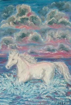 White Horses, Google Images, Pastels, Moose Art, Turquoise, Pink, Painting, Animals, Animales