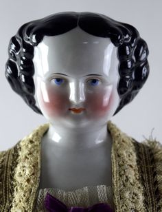 "18"" Vintage Brunette China Head Doll NO RESERVE Collection 4"