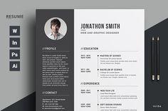 Resume/CV by ThemeDevisers on @creativemarket