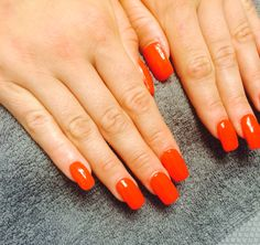 Burning flame red-Tia Dartnell's nail creations! our nail technician here at Faith hair and beauty. ❤️