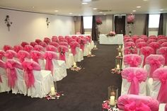 Pretty in pink - the Rowan Suite dressed for a wedding ceremony